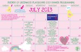 Our July schedule,revealed!