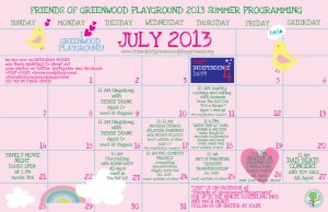 FOGP-SCHEDULE-SUMMER-JULY-'13